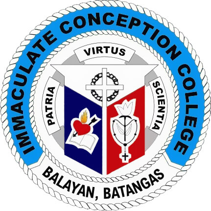 Immaculate Conception College - Balayan Logo