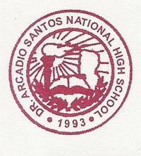 Dr. Arcadio Santos National High School Logo